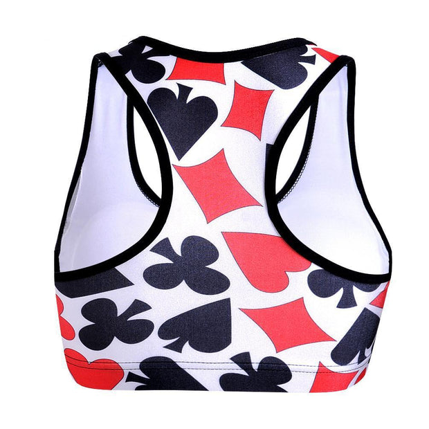 DECK OF CARDS SPORTS BRA - Lotus Leggings