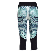 DOLLA DOLLA BILL ATHLETIC CAPRI - Lotus Leggings