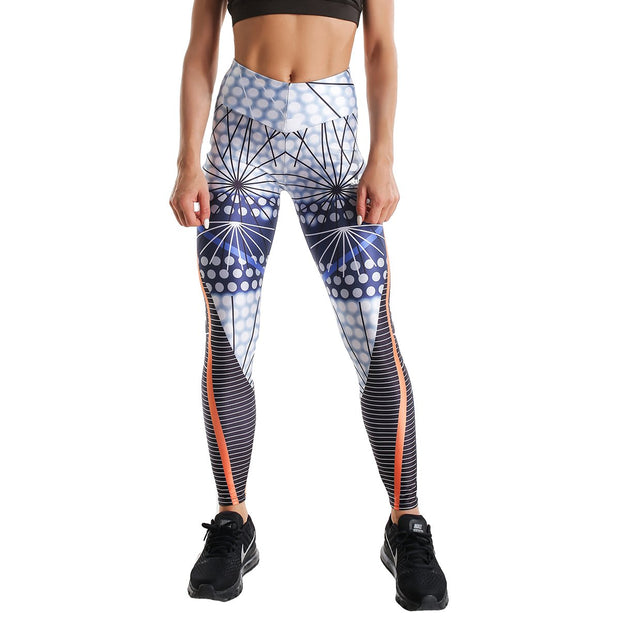 MULTI-COLORED PSYCHEDELIC PRINTED LEGGINGS
