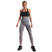 GREY BOLD HIGH-WAIST FIT LEGGINGS