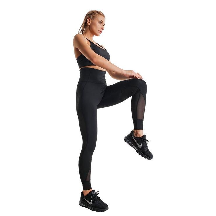 BLACK BOLD HIGH-WAIST FIT LEGGINGS