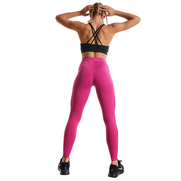 MID-RISE PINK RUNNING LEGGINGS