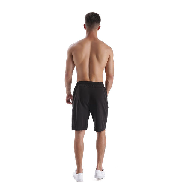 CASUAL BLACK MEN'S RUNNING SHORTS
