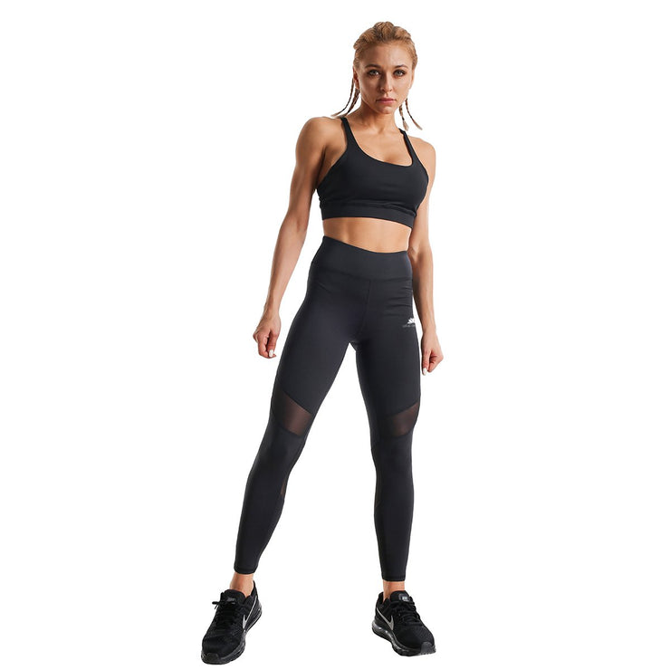 BLACK PERFORM MESH LEGGINGS