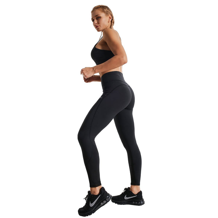 BLACK ESSENCE RUNNING LEGGINGS