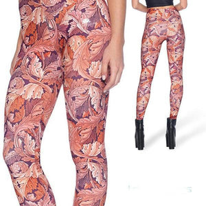 FALL LEAVES LEGGINGS - Lotus Leggings