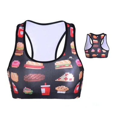 FAST FOOD YUM SPORTS BRA