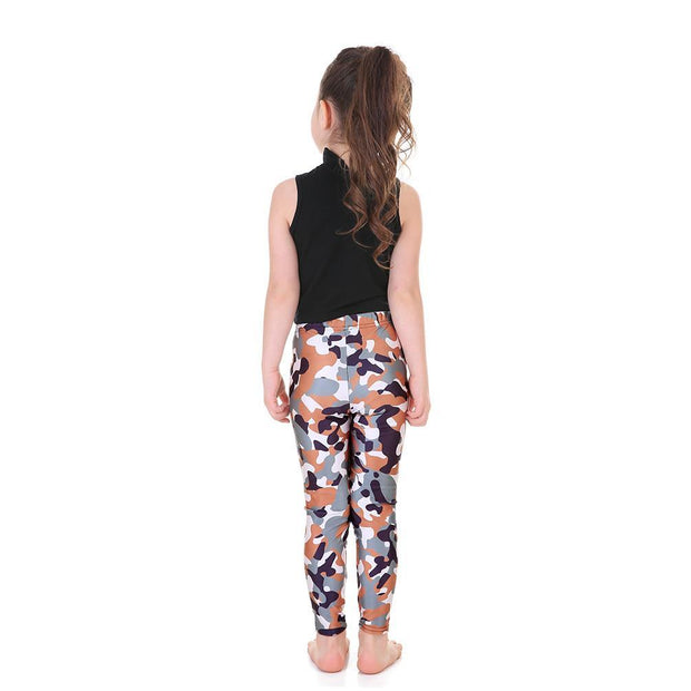 Kid's Camo Leggings - Lotus Leggings