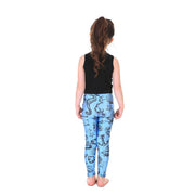 Kid's Wind and Sea Leggings - Lotus Leggings