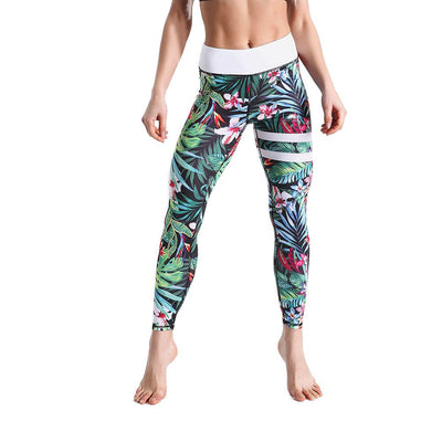 LOTUSXLITE STRIPED TROPICS LEGGINGS