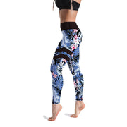 HIGH-RISE LIGHT BLUE FLORAL LEGGINGS