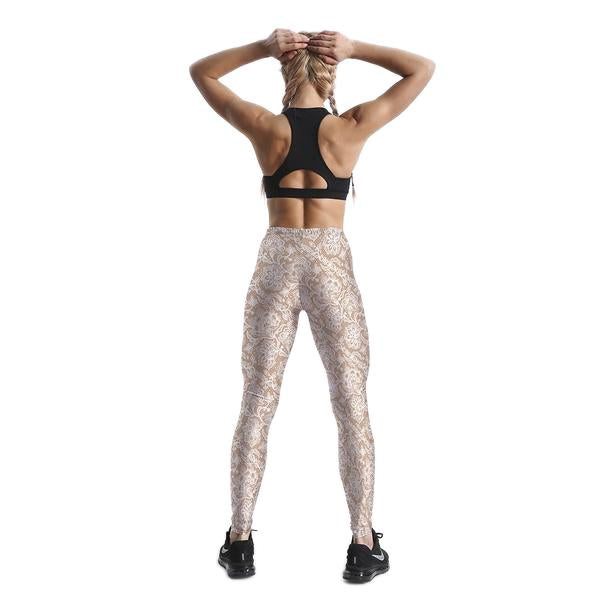 CREAM FLORAL LACE LEGGINGS