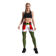 CHRISTMAS ELF PATTERNED LEGGINGS