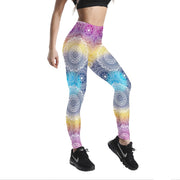 RAINBOW MANDALA PATTERNED LEGGINGS