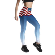 USA FLAG PATTERNED LEGGINGS