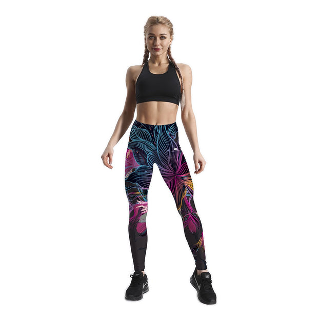 COLORFUL JUNGLE PATTERNED LEGGINGS