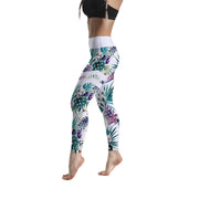 HIGH-RISE WHITE FLORAL LEGGINGS
