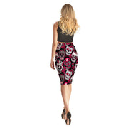Dia De Los Muertos Pencil Skirt - Lotus Leggings
