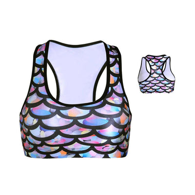 MERMAID SCALES SPORTS BRA