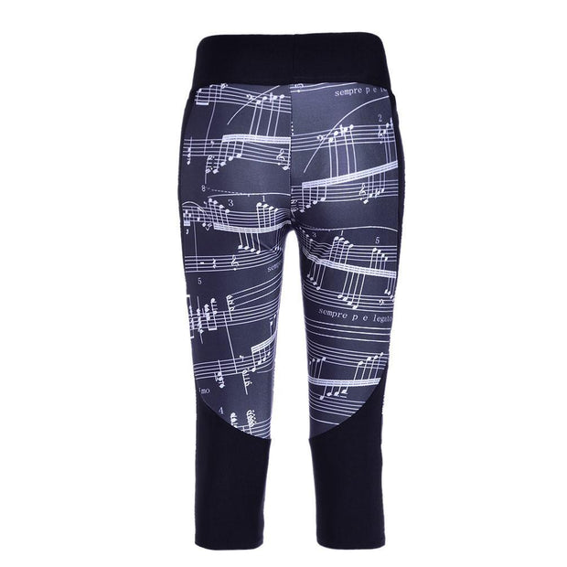 MUSICAL NOTES ATHLETIC CAPRI - Lotus Leggings