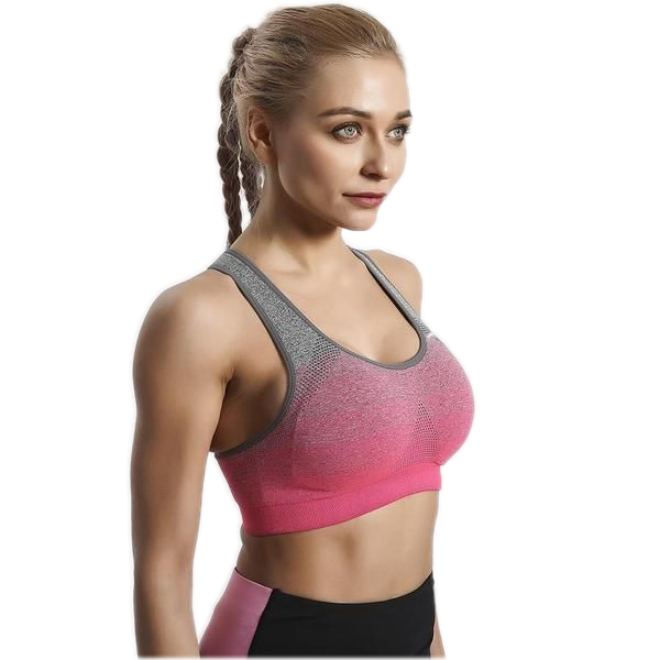 PINK OMBRE COMFORTFIT SPORTS BRA