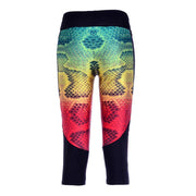 RAINBOW SNAKESKIN ATHLETIC CAPRI - Lotus Leggings