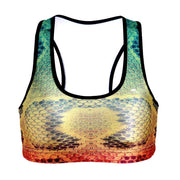 RAINBOW SNAKESKIN SPORTS BRA