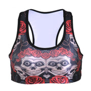 SKULLS AND ROSES SPORTS BRA - Lotus Leggings