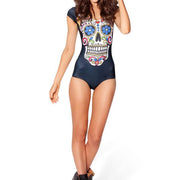 SUGAR SKULL SLEEVE SWIMSUIT - Lotus Leggings