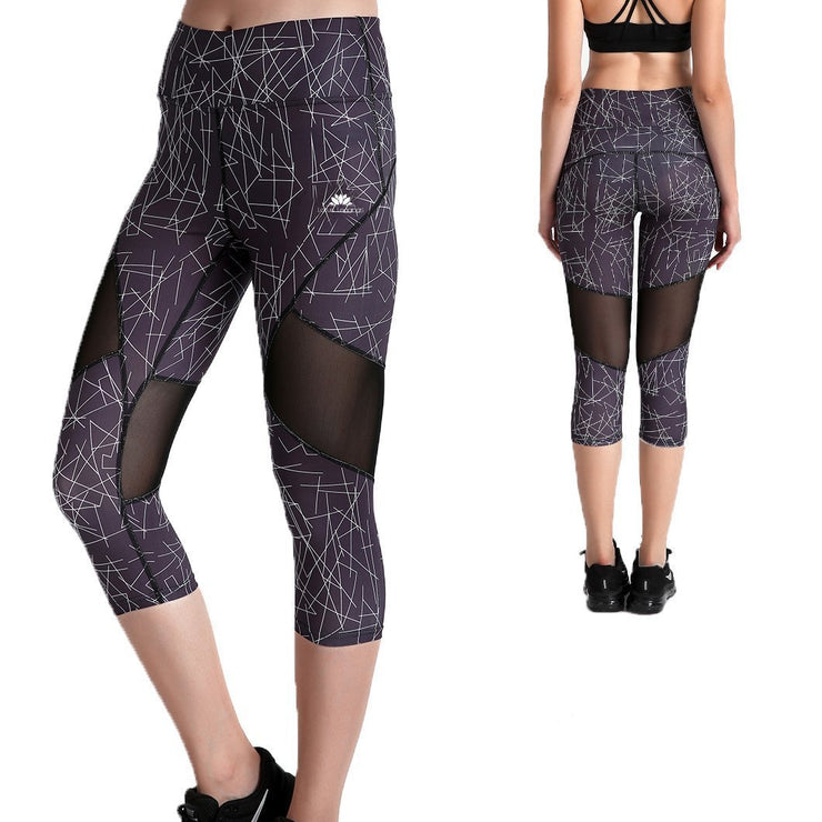 Scratch Capri Mesh Leggings - Lotus Leggings