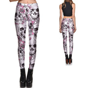 Blossomed Skull Leggings - Lotus Leggings