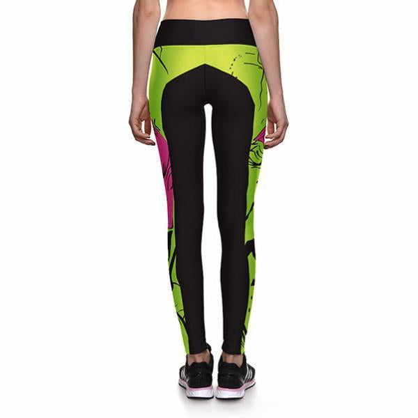 ZOMBIE IN YOUR FACE ATHLETIC LEGGINGS - Lotus Leggings