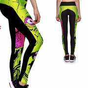 ZOMBIE IN YOUR FACE ATHLETIC LEGGINGS