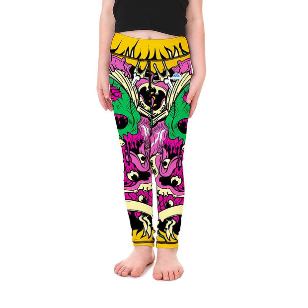 Gooey Skulls Kid's Leggings - Lotus Leggings
