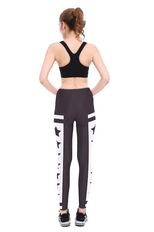 Black Star Leggings - Lotus Leggings