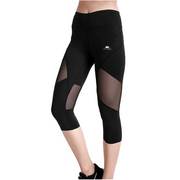 TOTAL BLACKOUT CAPRI MESH LEGGINGS