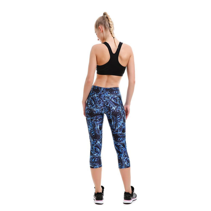 Dark Paradise Capri - Lotus Leggings