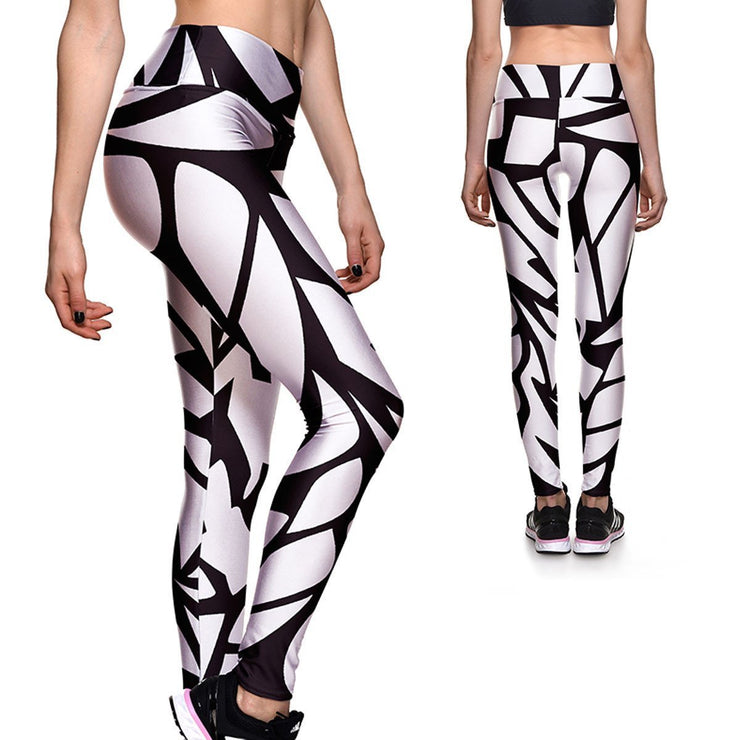 Shatter Athletic Leggings - Lotus Leggings