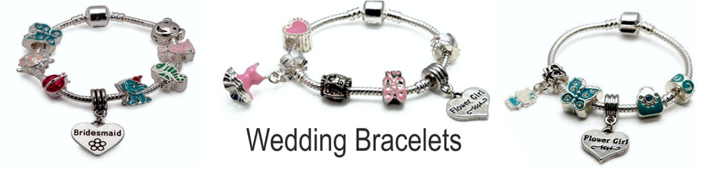 kids charm bracelets for flower girls and bridesmaids