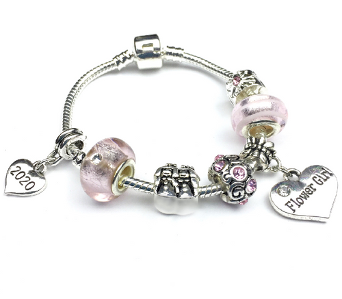 flower girl gift bracelet thank you gift