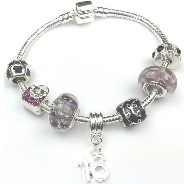 Teenager's 'Disco Queen' Age 13/16/18 Silver Plated Charm Bead Bracelet