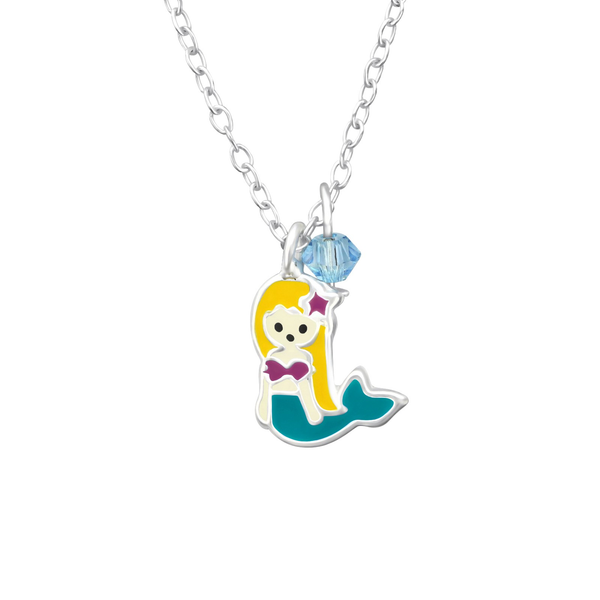 Children's Sterling Silver Mermaid Pendant Necklace