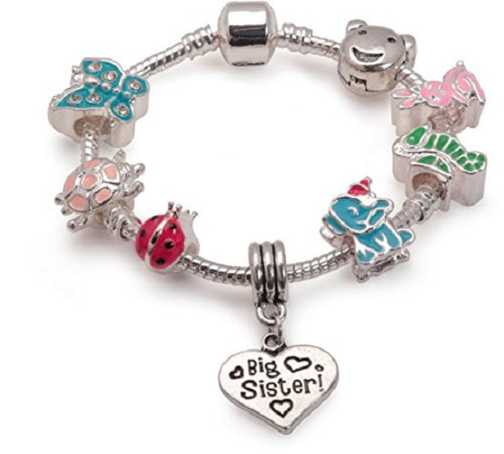 Big Sister Animal Magic Silver Plated Charm Bracelet Gift