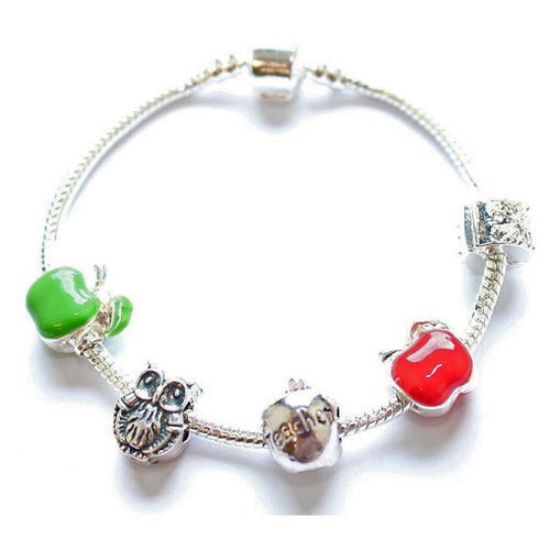 Apple Teacher Bracelet for Teacher Gift Ideas or Teacher Gifts For Her