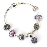 Adult's Aquarius 'The Water Bearer' Zodiac Sign Silver Plated Charm Bracelet (Jan 20-Feb 18)