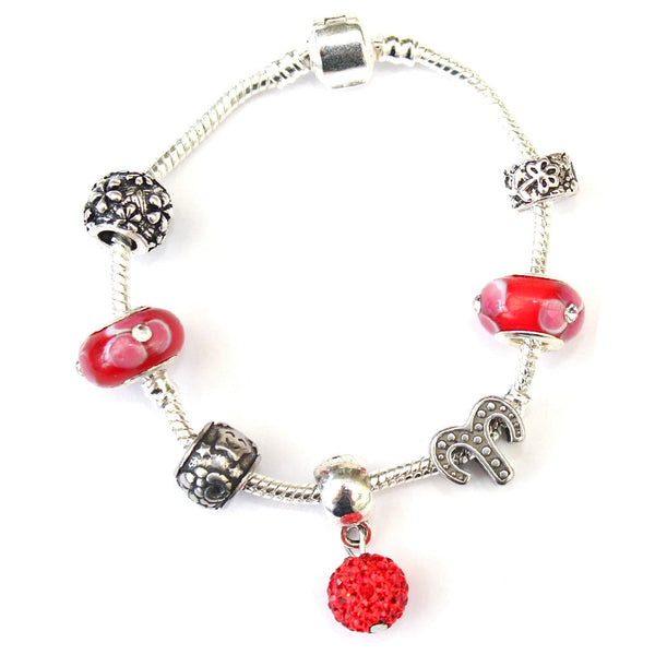 Adult's Aries 'The Ram' Zodiac Sign Silver Plated Charm Bracelet (Mar 21-Apr 19)