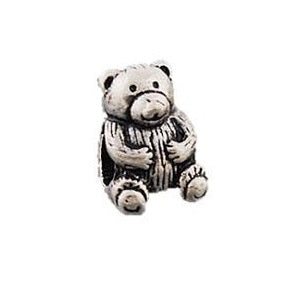 Silver Plated Bear Charm