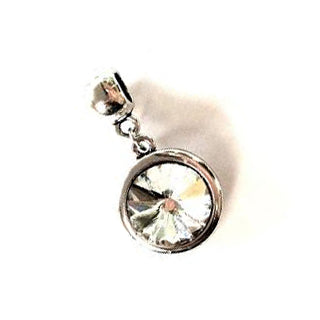 April Birthstone Diamond Colored Crystal Drop Charm