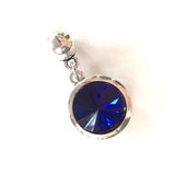 September Birthstone Sapphire Colored Crystal Drop Charm
