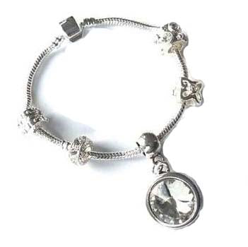 teenager April Birthstone bracelet